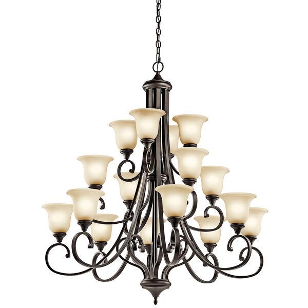 Monroe Olde Bronze 16-Light Energy Star LED Chandelier, image 1
