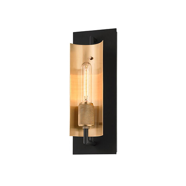 Cleo Black and Brass One-Light Wall Sconce, image 1