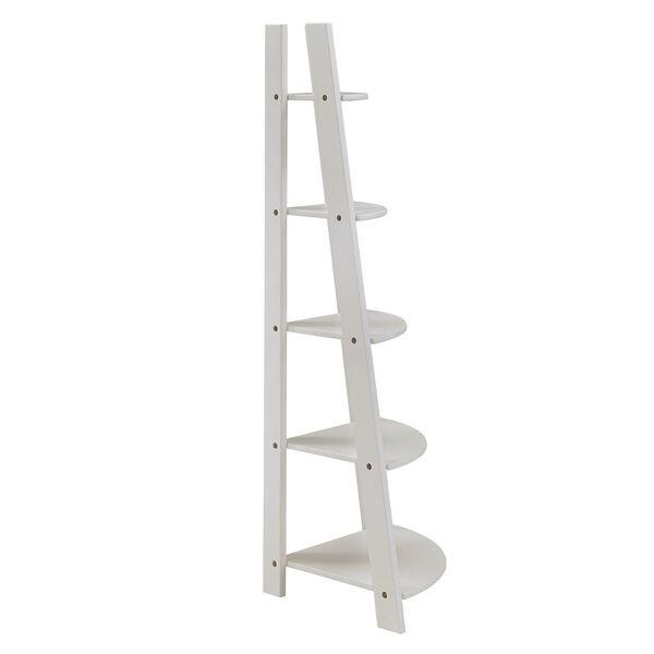 Roark White Corner Ladder Bookcase, image 3