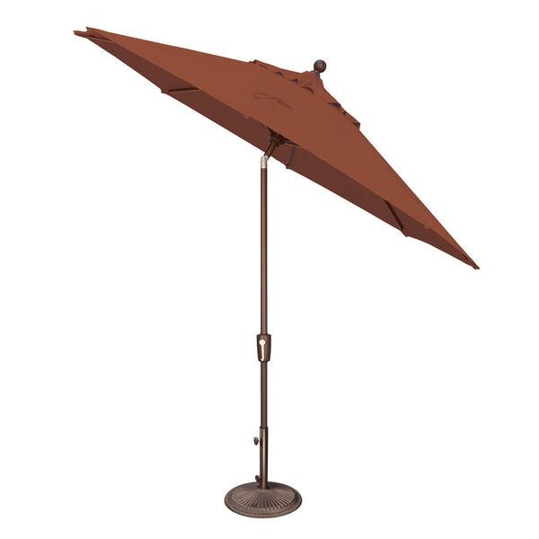 Catalina Ginkgo and Black Push Button Market Umbrella, image 2