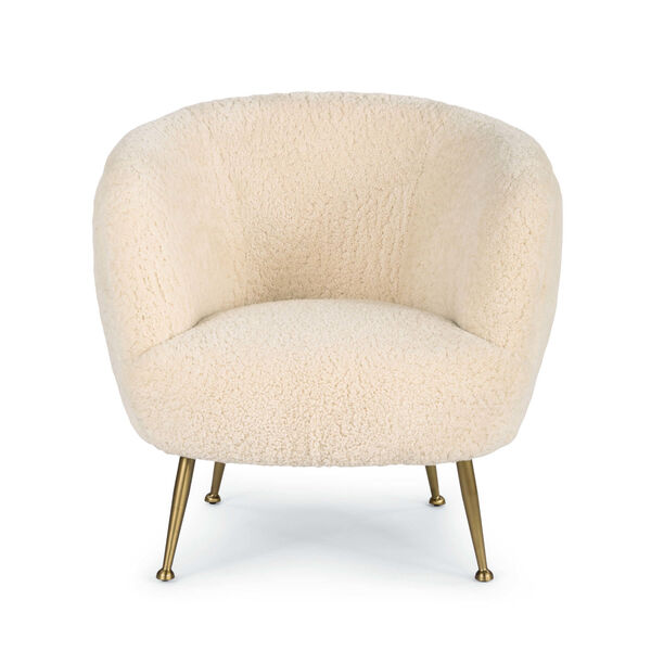 Beretta White Sheepskin Chair, image 1