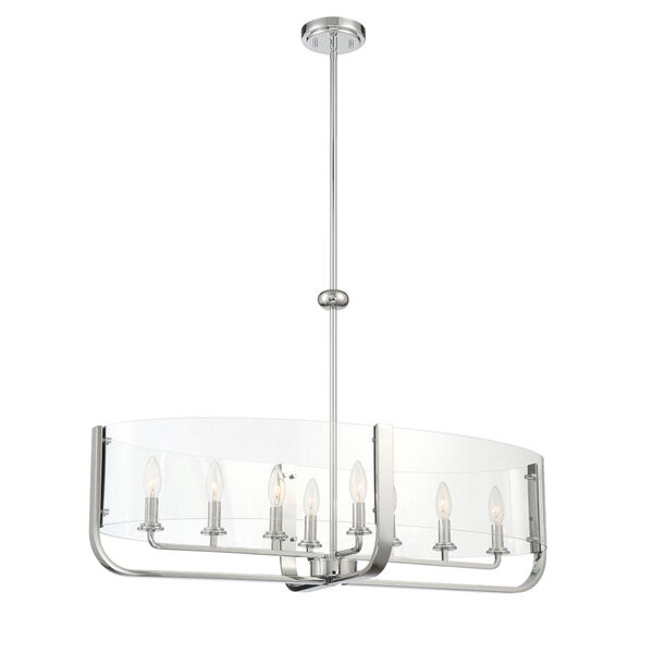 Campisi Chrome Eight-Light Oval Chandelier, image 1