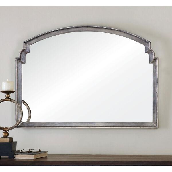 Via Della Lightly Antiqued Silver Mirror, image 1