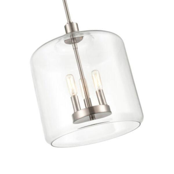York Satin Nickel Three-Light Pendant, image 2