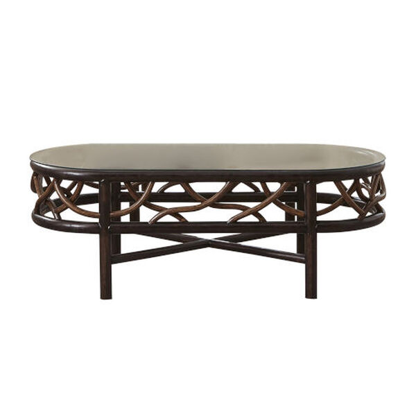 Trinidad Natural Indoor Coffee Table with Glass, image 2