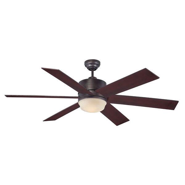 Afton Bronze 60-Inch One-Light Ceiling Fan, image 1