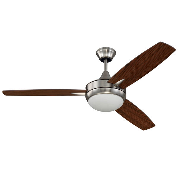 Targas Brushed Polished Nickel 52-Inch LED Ceiling Fan with Three Blades, image 1