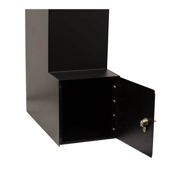 Manchester Black Security Option with Decorative Scroll Door Manchester Faceplate - (Open Box), image 8