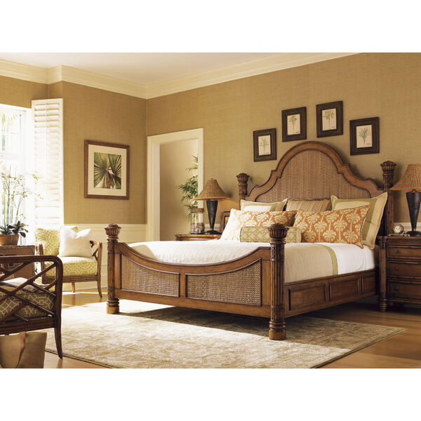 Island Estate Brown Round Hill King Bed, image 2