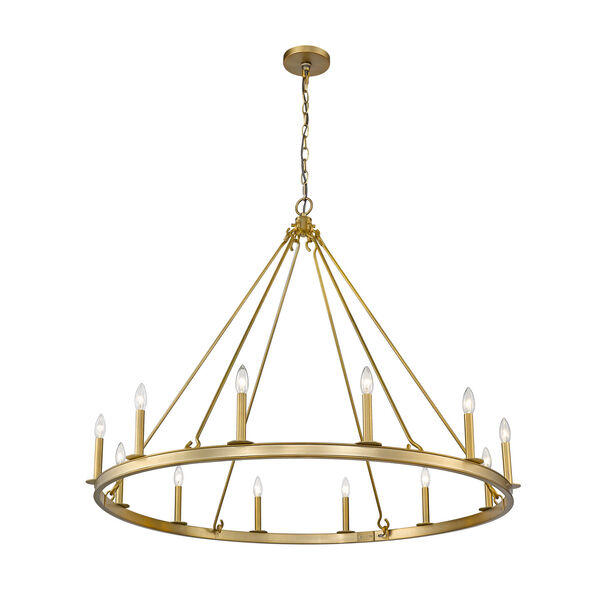 Barclay Olde Brass 48-Inch 12-Light Chandelier, image 5