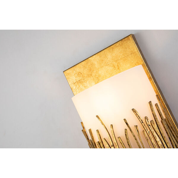 Sawgrass Gold Leaf with Antique One-Light Wall Sconce, image 4