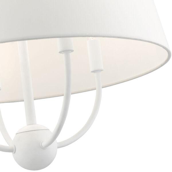 Ridgecrest White Four-Light Chandelier, image 6