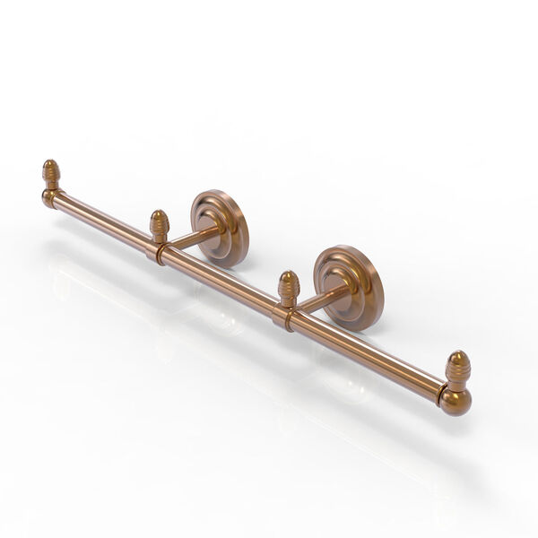 Que New Brushed Bronze Four-Inch Three Arm Guest Towel Holder, image 1