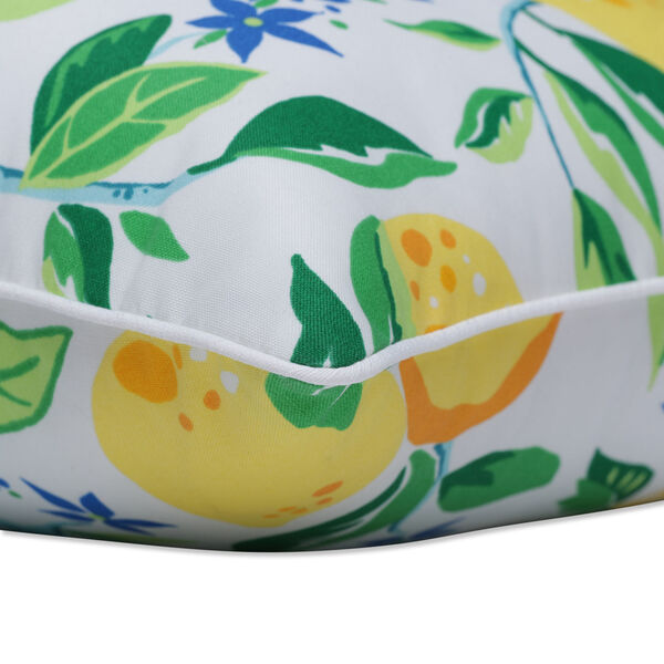Lemon Yellow Blue Green Throw Pillow, Set of Two, image 2