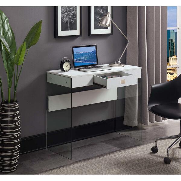 SoHo White 36-Inch Desk, image 1