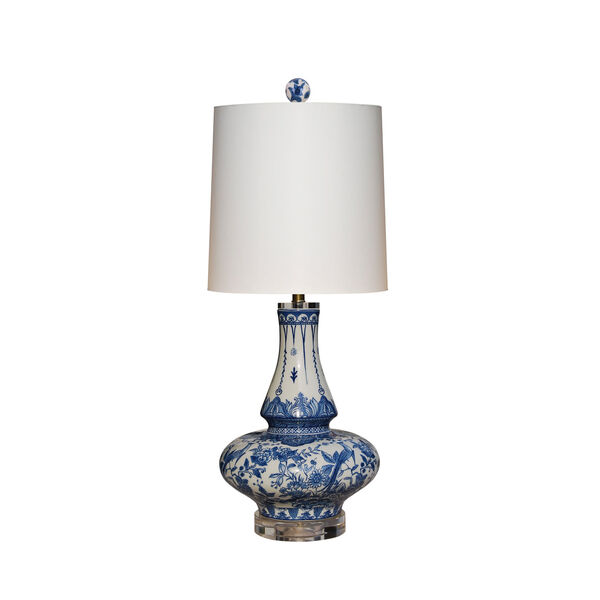 Porcelain Ware Blue and White 27-Inch One-Light Table Lamp, image 1