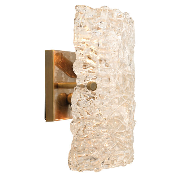 Swan Clear Antique Brass 10-Inch Two-Light Wall Sconce, image 4