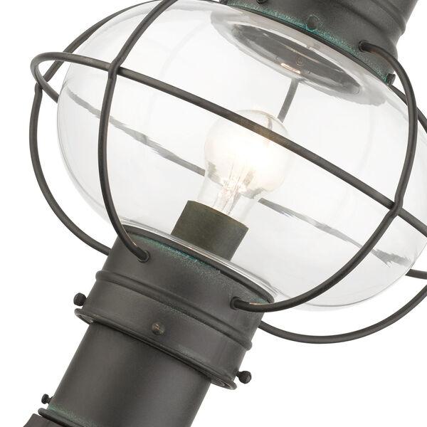 Newburyport Charcoal 11-Inch One-Light Outdoor Post Lantern, image 6