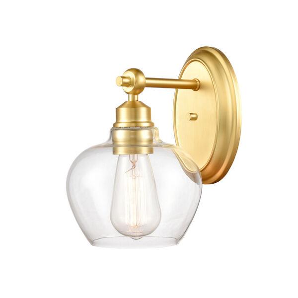Amina Satin Gold LED Bath Vanity, image 1