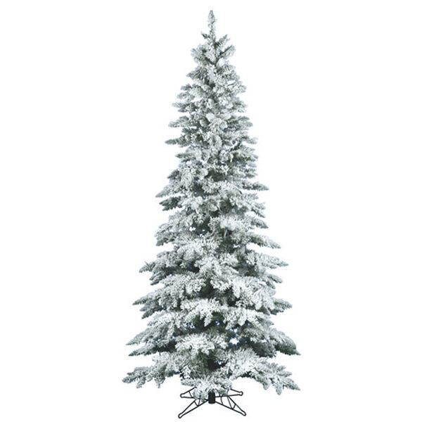 7.5 ft. x 3.5 ft. Flocked Utica Fir Tree with 1019 Tips, image 1