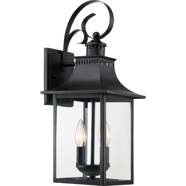 Chancellor Mystic Black Two-Light Outdoor Wall Sconce, image 1