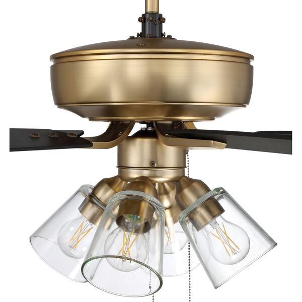 Pro Plus Satin Brass 52-Inch Four-Light Ceiling Fan, image 7