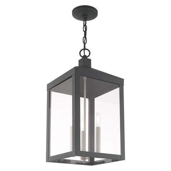 Nyack Scandinavian Gray 11-Inch Three-Light Pendant Lantern, image 6