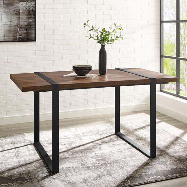 Urban Blend Dark Walnut and Black Dining Table, image 4