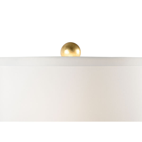 Savannah Blue, Gold and White Two-Light Table Lamp, image 3