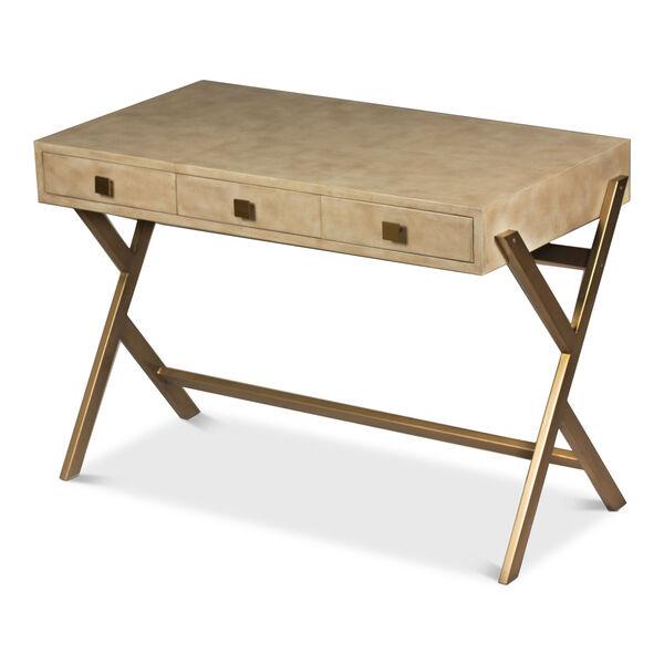 Beige Stuart Leather Desk, image 8