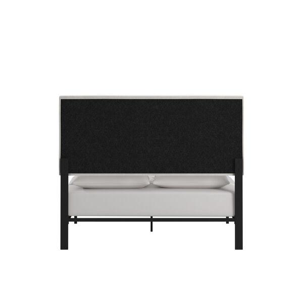 Lydia Beige and Black Full Velvet Platform Bed, image 4