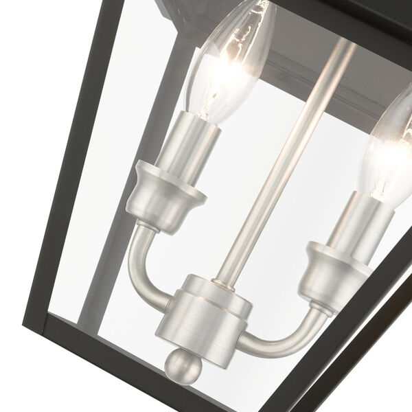 Mansfield Black Two-Light Outdoor Pendant, image 6