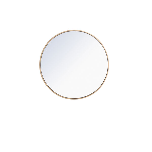 Eternity Round Mirror with Metal Frame, image 1