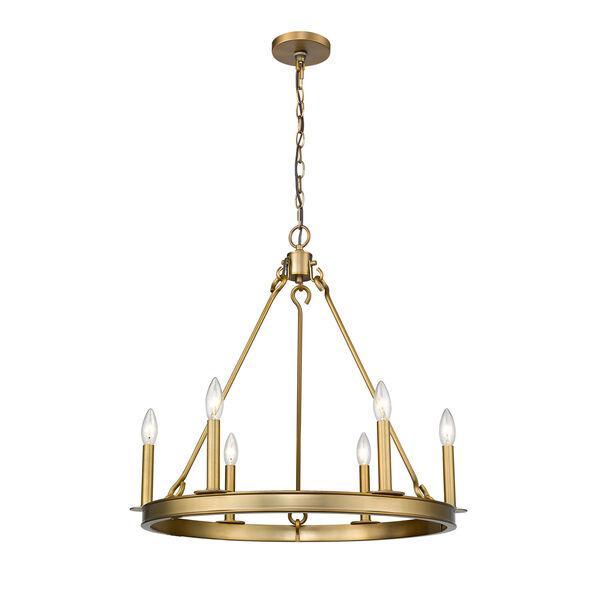 Barclay Olde Brass Six-Light Chandelier, image 1