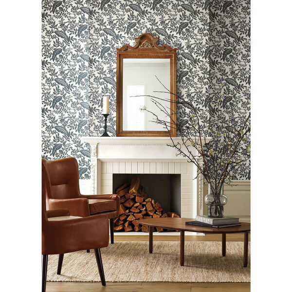 Rifle Paper Co. Black and White Canopy Wallpaper, image 1