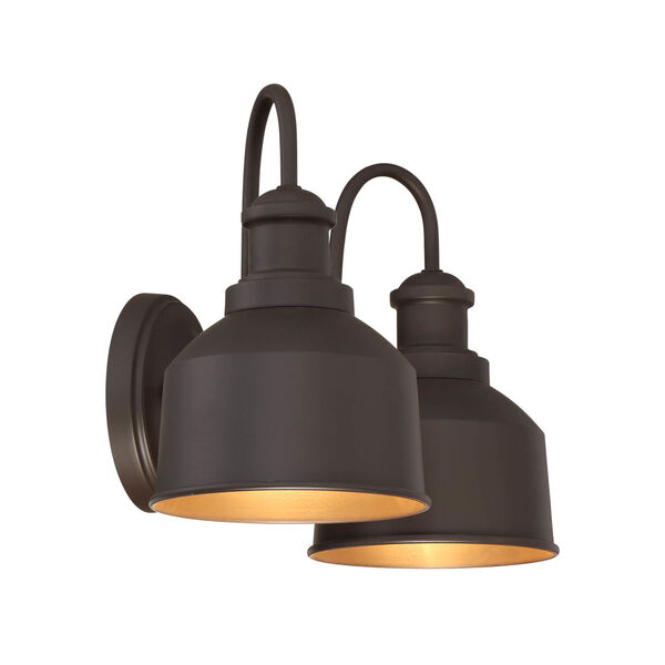 Lex Oil Rubbed Bronze Two-Light Outdoor Wall Sconce, image 3