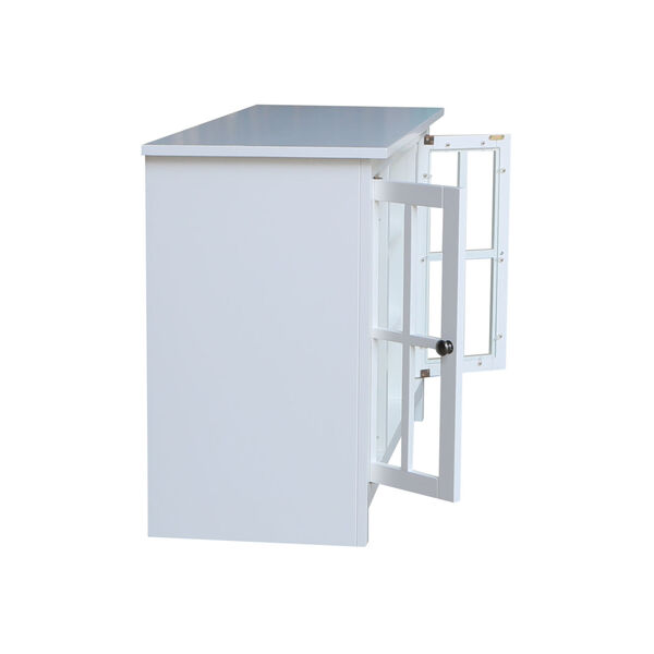 White 48-Inch TV Stand with Two Door, image 6