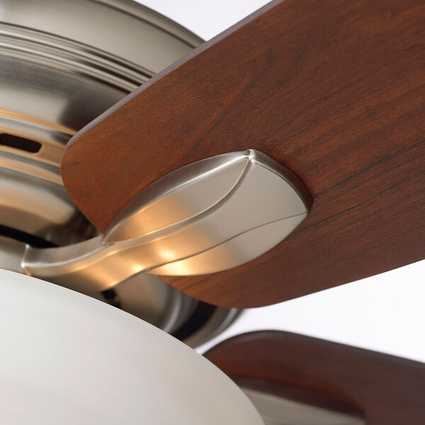 Pro Series Brushed Steel Three Light Ceiling Fan, image 8