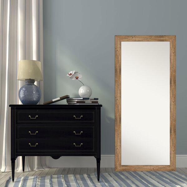 Brown 29-Inch Floor Mirror, image 5