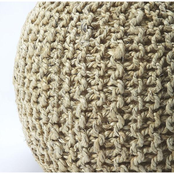 Pincushion Woolen Woven Round Pouf, image 3