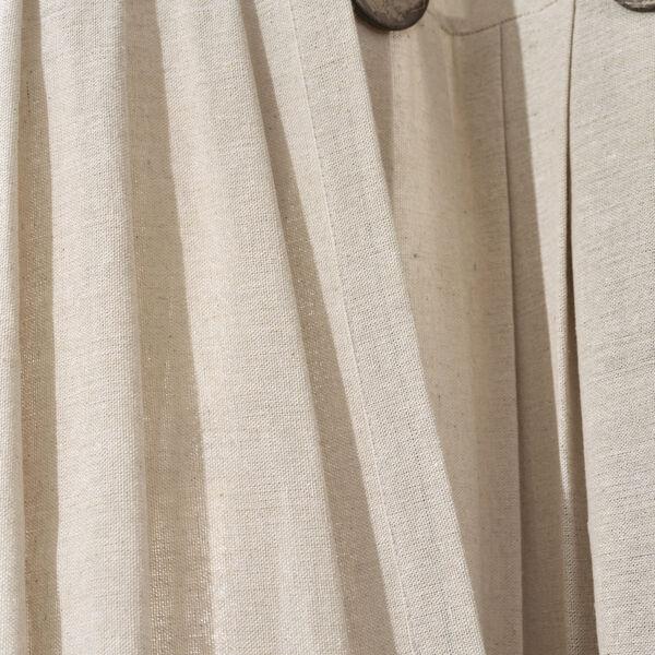 Linen Button Cream 40 x 84 In. Single Window Curtain Panel, image 5