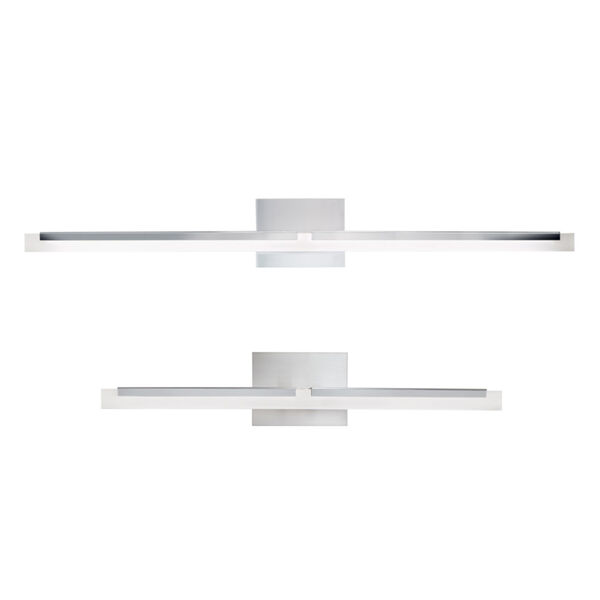Double L Brushed Nickel One-Light 26-Inch Wall Sconce, image 1