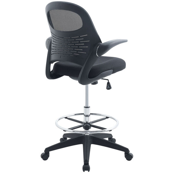 Advance Drafting Stool in Black, image 2