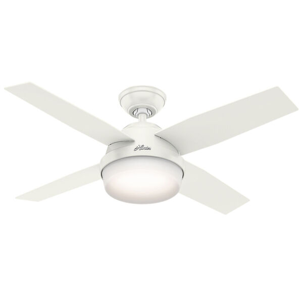 Dempsey Fresh White 44-Inch Two-Light LED Adjustable Ceiling Fan, image 1