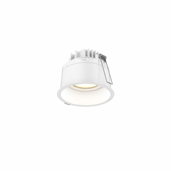 White Two-Inch Round Indoor Outdoor LED Regressed Gimbal Down Light, image 1