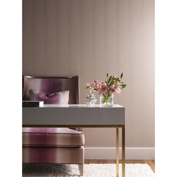 Candice Olson Modern Nature Beige and Pink Canopy Wallpaper: Sample Swatch Only, image 2
