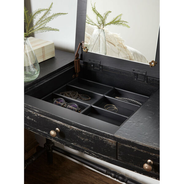 Alfresco Black Vanity Desk, image 6
