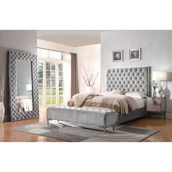 Vivian Cal. King Silver Gray Cal King Upholstered Bed, image 2