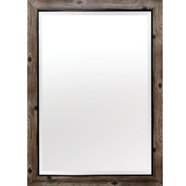 Gray and Black 43-Inch Tall Framed Mirror, image 1