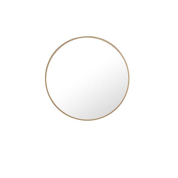Eternity Brushed Brass Round 24-Inch Mirror, image 2